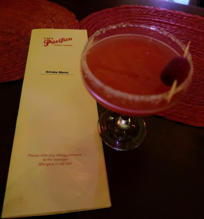 Mezcal London - Cafe Pacifico - drinks menu CREDIT Minka Guides