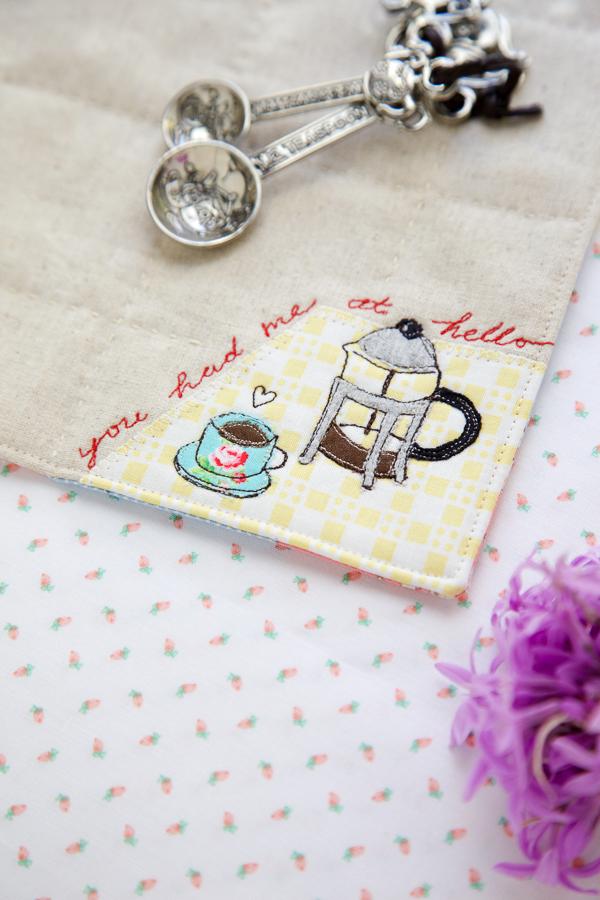 embroidered dessert mat