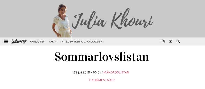 Bloggar Julia Khouri