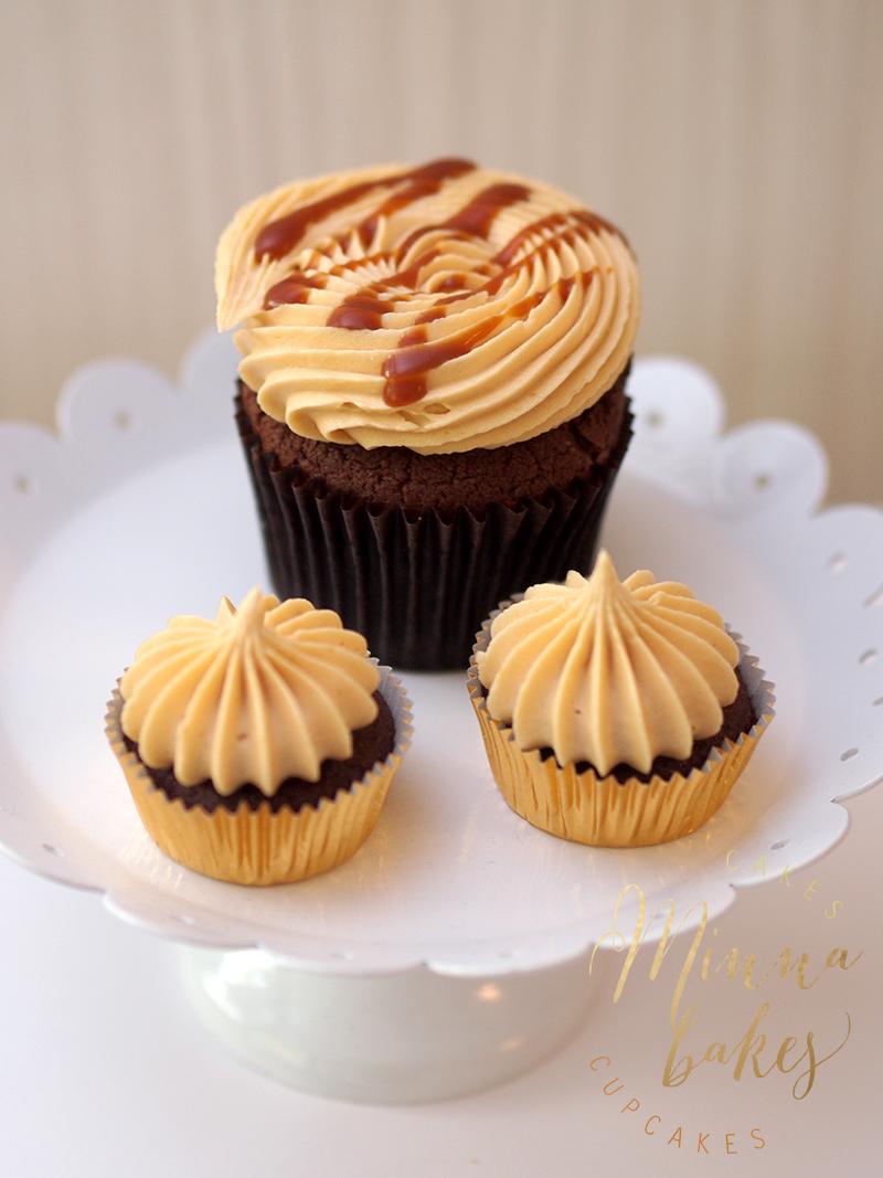 Chocolate Salted Caramel Cupcake ja Mini Cupcakes
