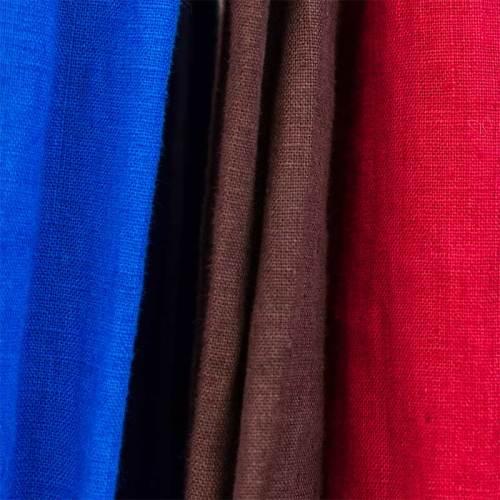 Pellavan värit - sininen, ruskea, punainen