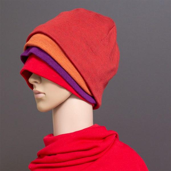 Merinopipot neljässä eri värissä - punainen, violetti, oranssi ja ruosteenpunainen