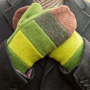 Villainen vuorillinen raitalapanen, vihreän ja ruskean väreissä