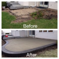 Colored Concrete Patio Diy