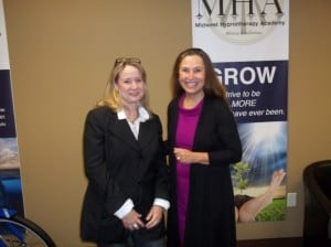 Cindy Locher with Mayor Mary
