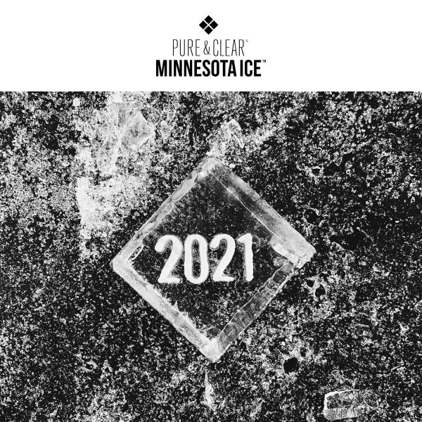 Pure & Clear Minnesota Ice - Engraved 2021 Rocks