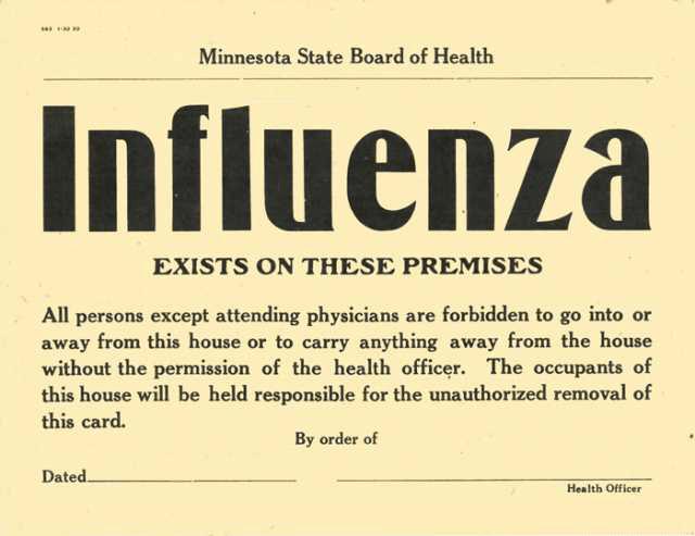 The 1918 influenza pandemic killed thousands of Minnesotans | MinnPost