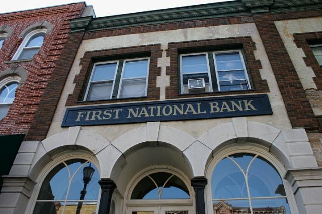 The front of the original First National Bank of Northfield. I didn't photograph