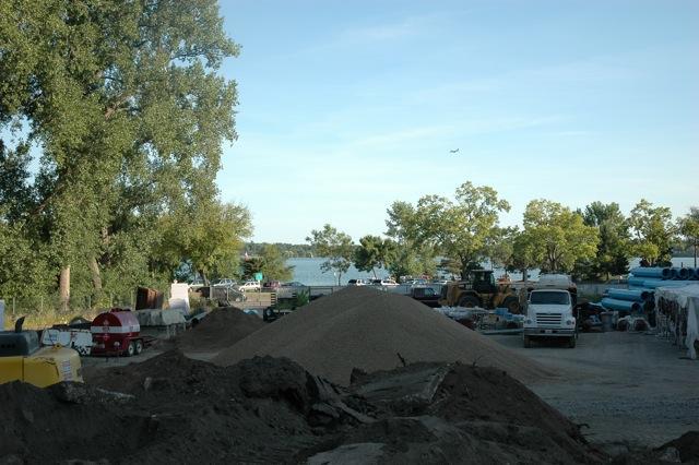Empty Lake Calhoun Lot