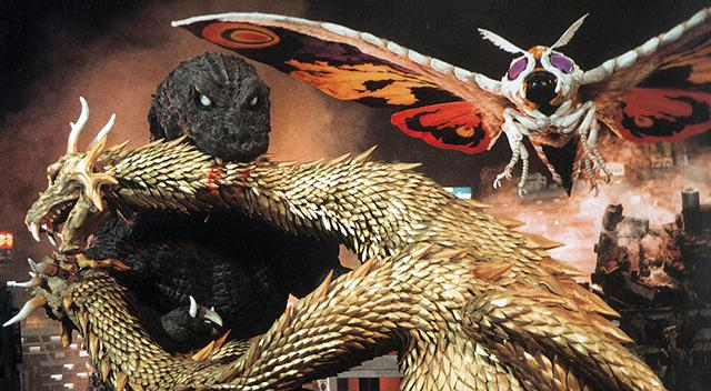 godzilla, mothra, and king ghidorah