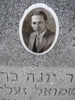 Julius Fidell's gravestone
