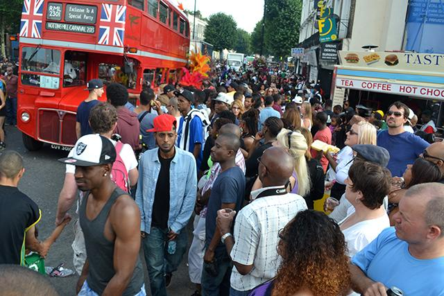 crowd at notting hill carnival
