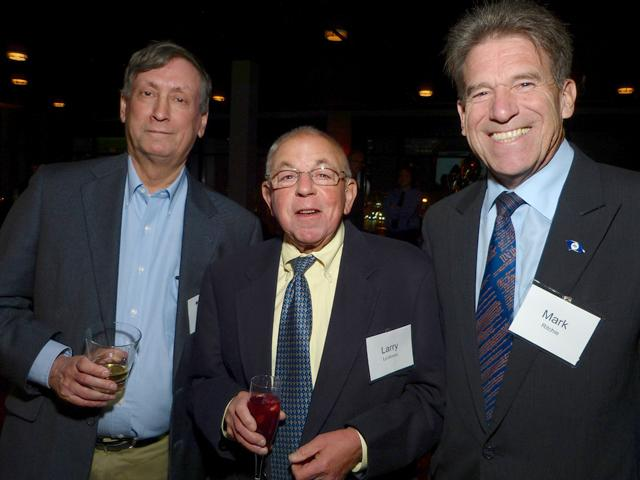 MinnPost CEO Joel Kramer, Larry Luckman and Secretary of State Mark Ritchie