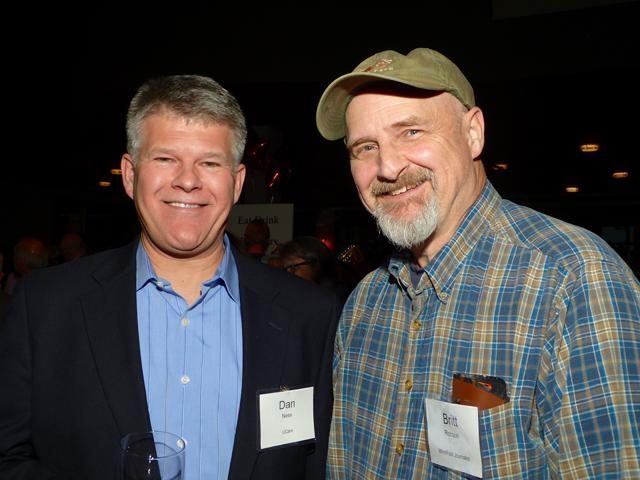 Dan Ness and MinnPost journalist Britt Robson