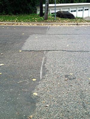 pavement demarcation