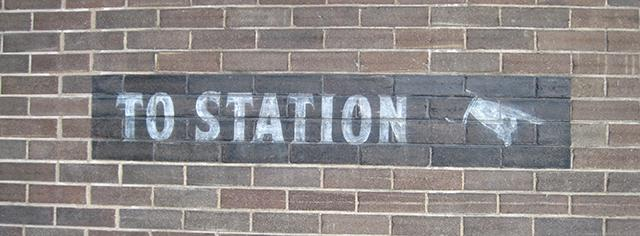 to station sign