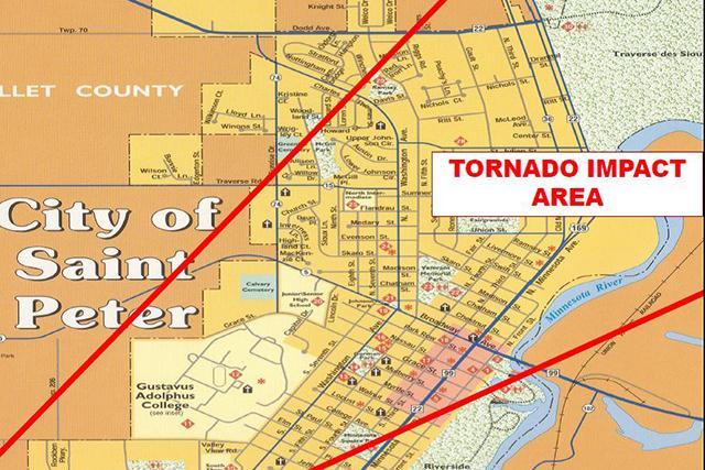 tornado path map