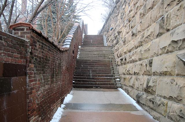 walnut street stair case