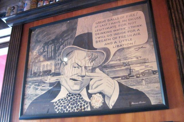 The Red Stag's W. C. Fields illustration manages to be both idealistic and cynic