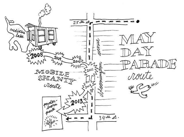 may day parade map