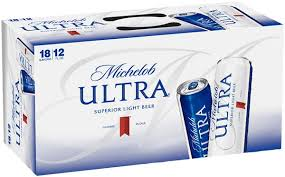 michelob ultra 18 pack can