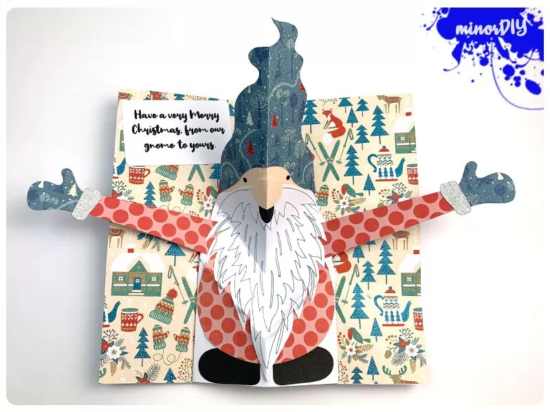 Diy Pop Up Gnome Card Minor Diy
