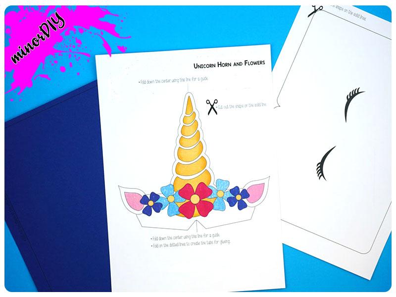 easy print and cut popup unicorn card » minor diy