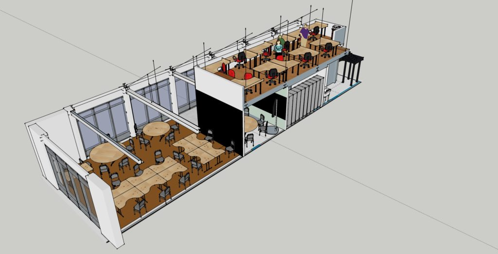 coworking space model-from back
