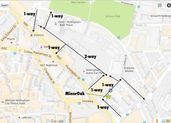 1-way street