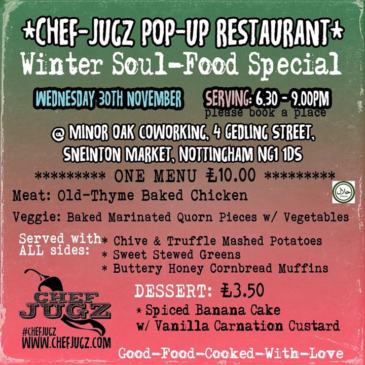 Chef Jugz' menu