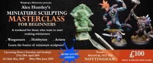 Workshop: Miniature Sculpting Masterclass for Beginners @ MinorOak