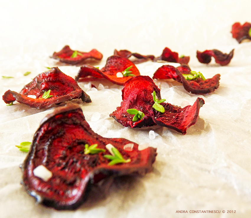 Beetroot crisps healthy snacks homemade oven-baked