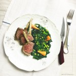 rack of lamb and three veg recipe