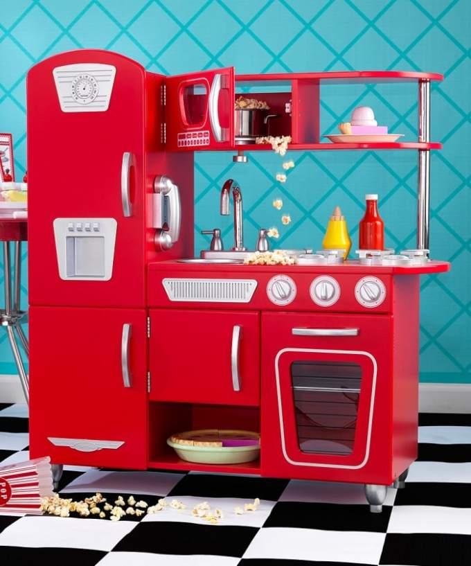 kidkraft retro red kitchen on sale