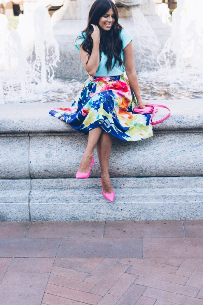 anthropologie skirt with pockets