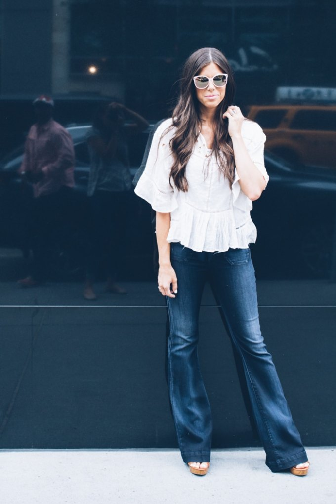 the perfect fall flare jean