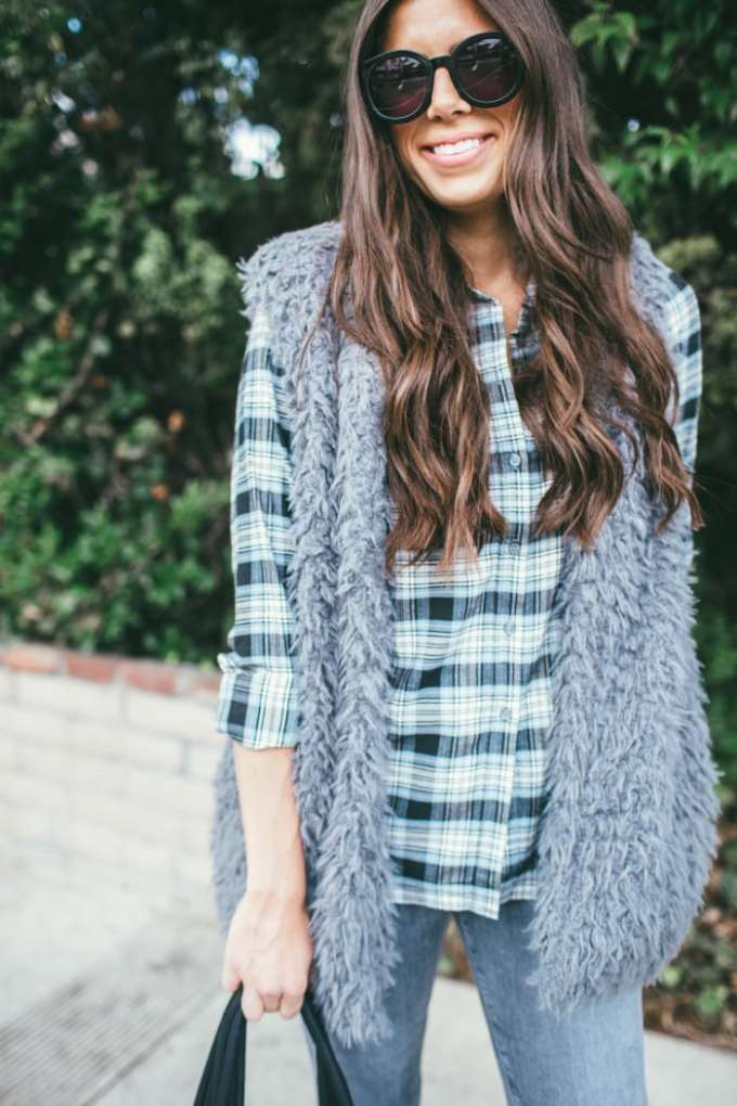 pj salvage faux fur vest