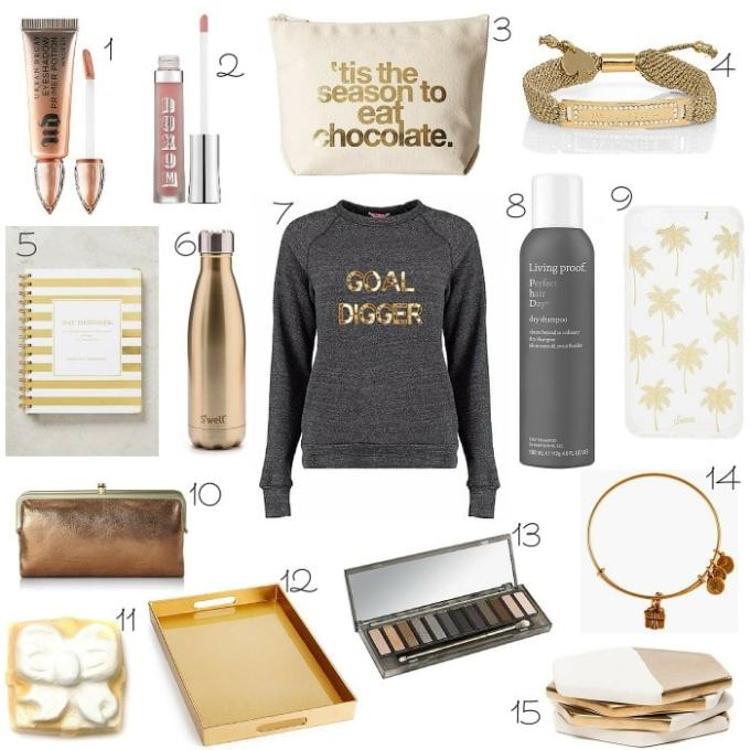the perfect little golden gifts for all your girlfriends this christmas!
