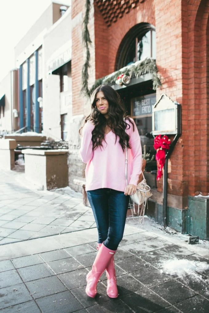 pink hunter boots