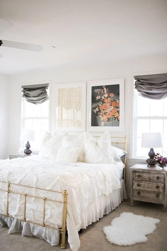 Master Bedroom Makeover reveal  Mint Arrow