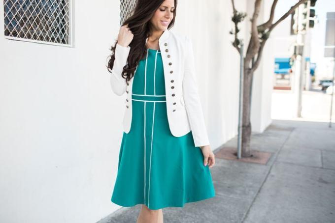 modcloth green dress