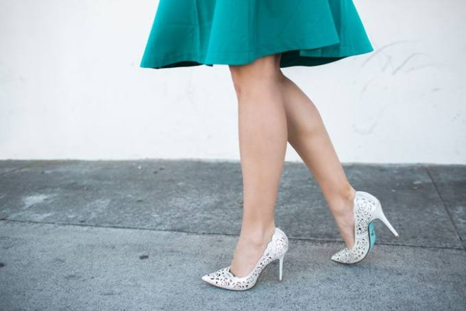 silver sparkle cutout heels