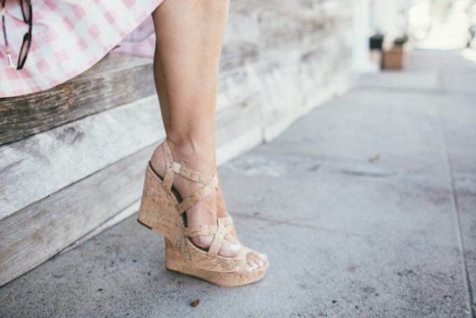 cork wedge sandals! super cute for spring summer and these ones are really inexpensive too.