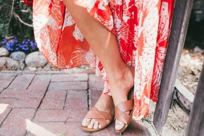 maxi orange dress