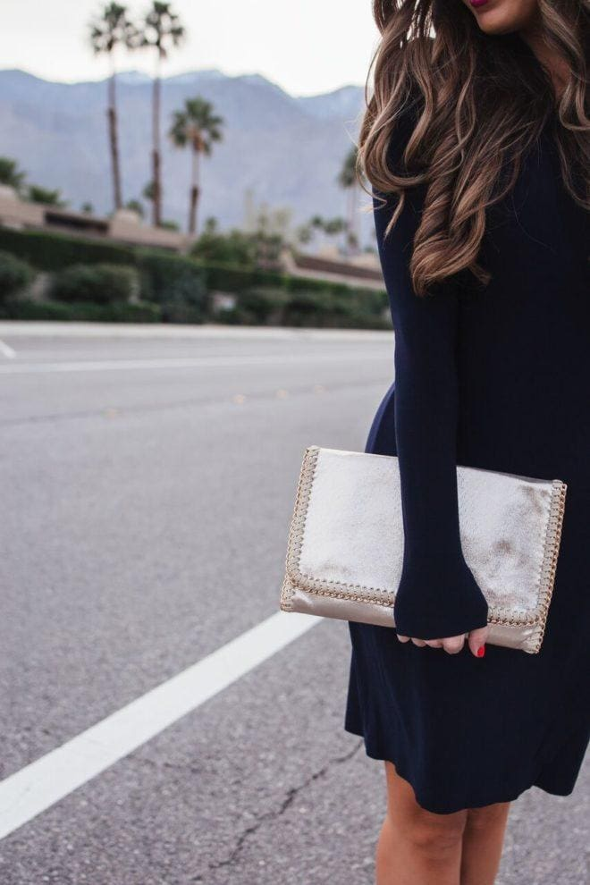 the perfect gold clutch
