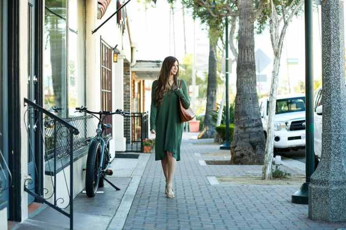 Green Swing Dress OOTD