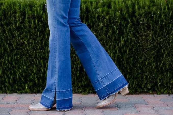Flare Jeans Drop Hem