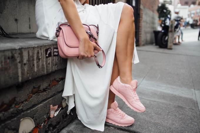 reebok fall sneakers ruffle dress