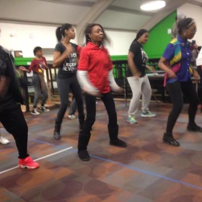 Mosaic Youth Theatre practice burns a lot of energy.
