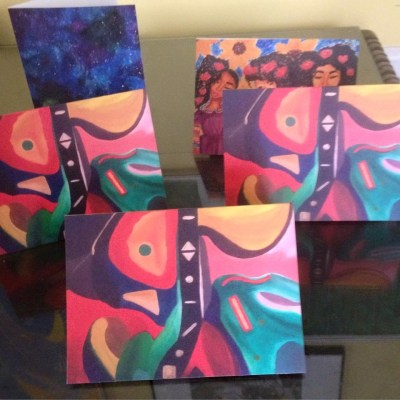 This abstract card costs $5 and supports Mint Artists Guild programs.